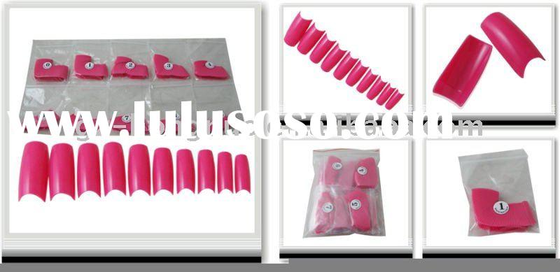 500 HOT PINK FRENCH FALSE ACRYLIC NAIL ART TIPS GEL