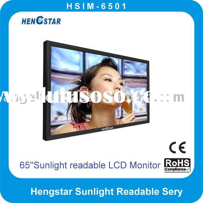65'' TFT LCD Sunlight Readable Monitor/Display