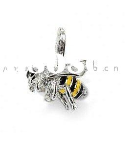 925 steriling Silver Pendant-Wasp Fashion Pendant With Clasp