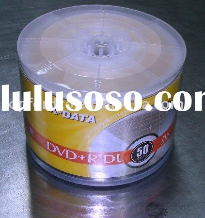 A+ Grade Dual Layer DVD+R 8.5GB 8X 50pcs Shrinkwrap with Clear Wheel Cover