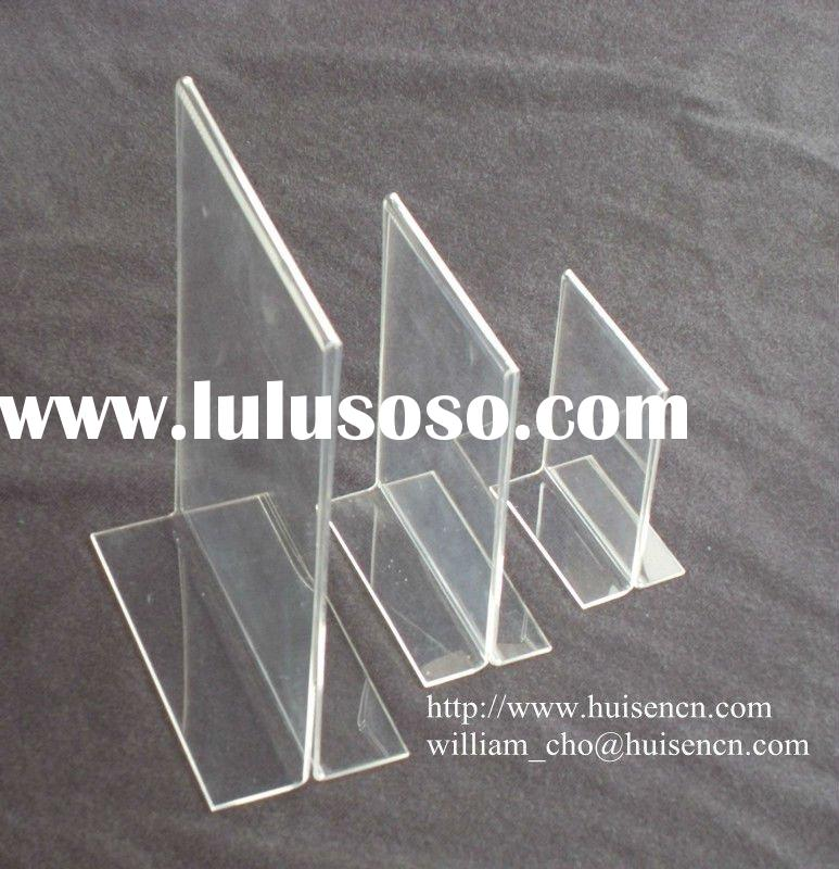 Acrylic T-frame menu holder for counter display