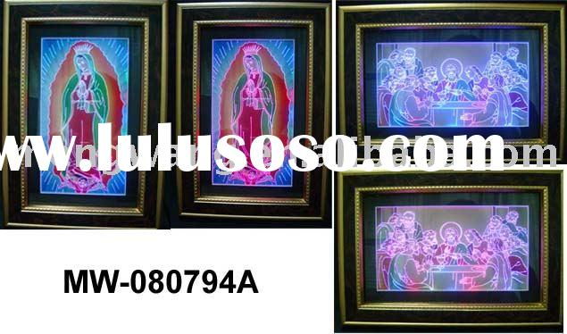 Acrylic picture frame with light, religion series