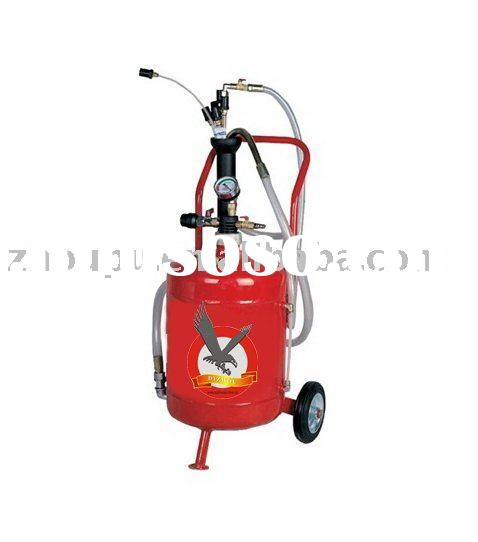 Air-operated waste oil suction changer