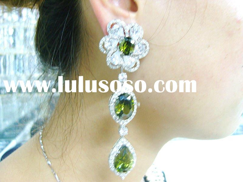 Arabic women dress/wedding jewelry/cubic zirconia jewelry/brass Alloy