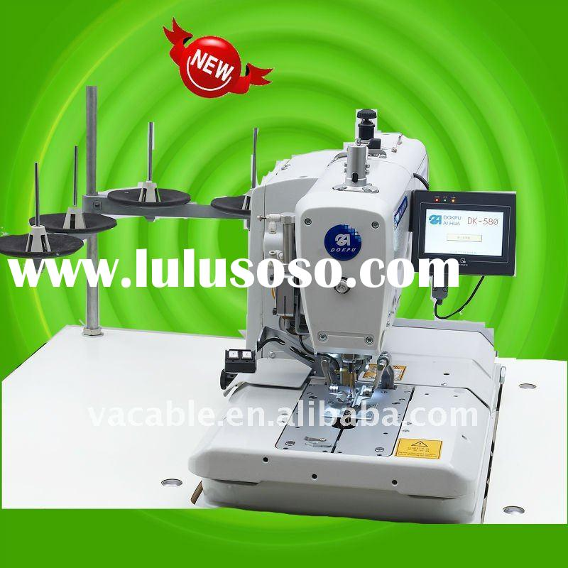 Automatic 2-thread chainstitch eyelet buttonholer industrial sewing machine -easy and quick