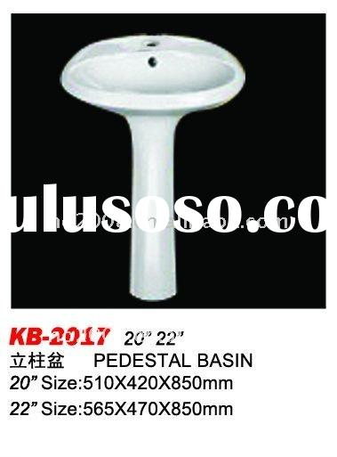 Bathroom Sanitary Ware Ceramic Pedestal Hand Wash Basin HB-2017