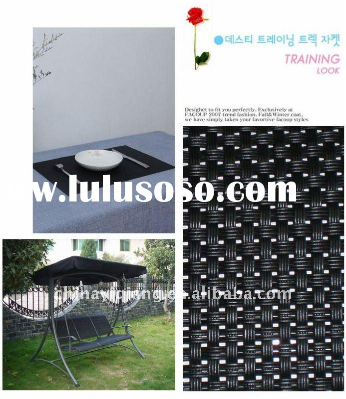 Black 4*4 Pattern Vinyl Mesh Fabric For Swing Chair