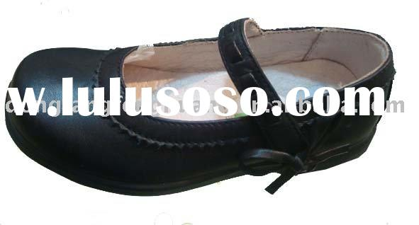 Black school shoes for girls