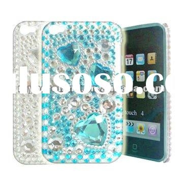 Bling Diamond Skin for ipod touch 4 cover case,paypal accept