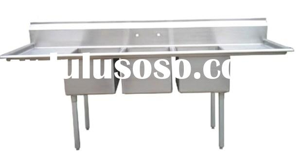 Brushed Commercial Kitchen Sink Stainless Steel