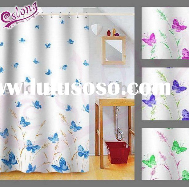 Butterfly Printed Shower Curtain(Bathroom Product), 091166