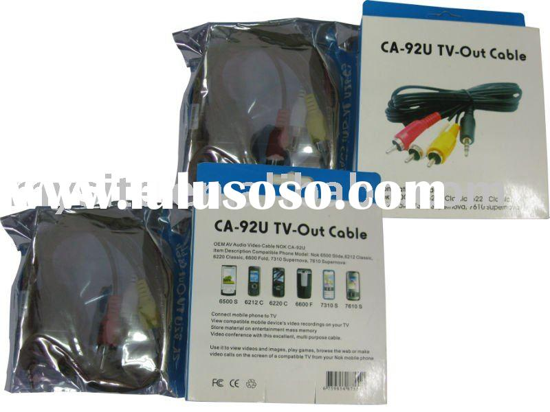 CA-92U TV-Out Cable for Nokia 6500S