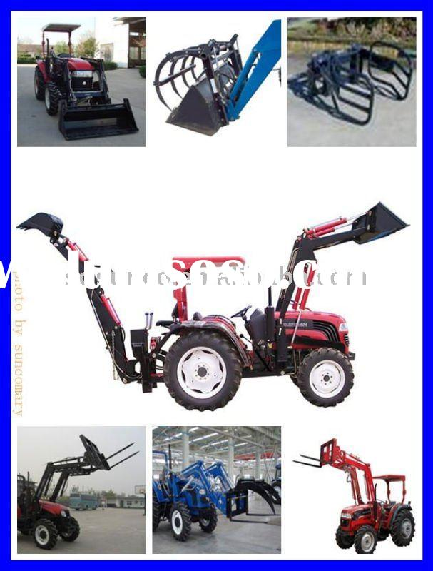 CE farm tractor with front end loader