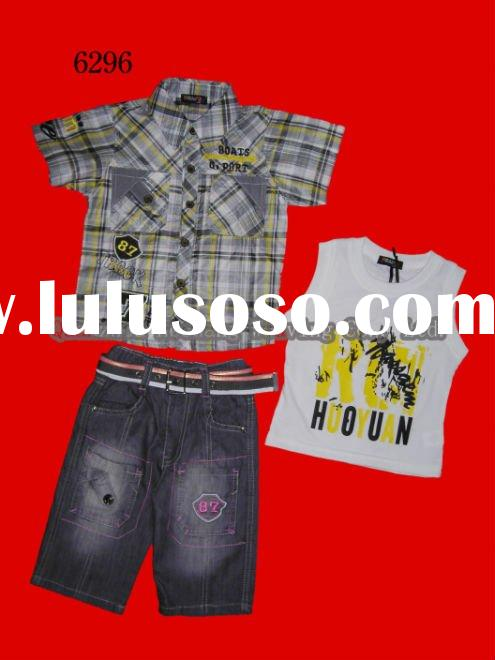 CHILDREN GARMENT BOYS 3-PCS SUIT POPULAR DESIGN