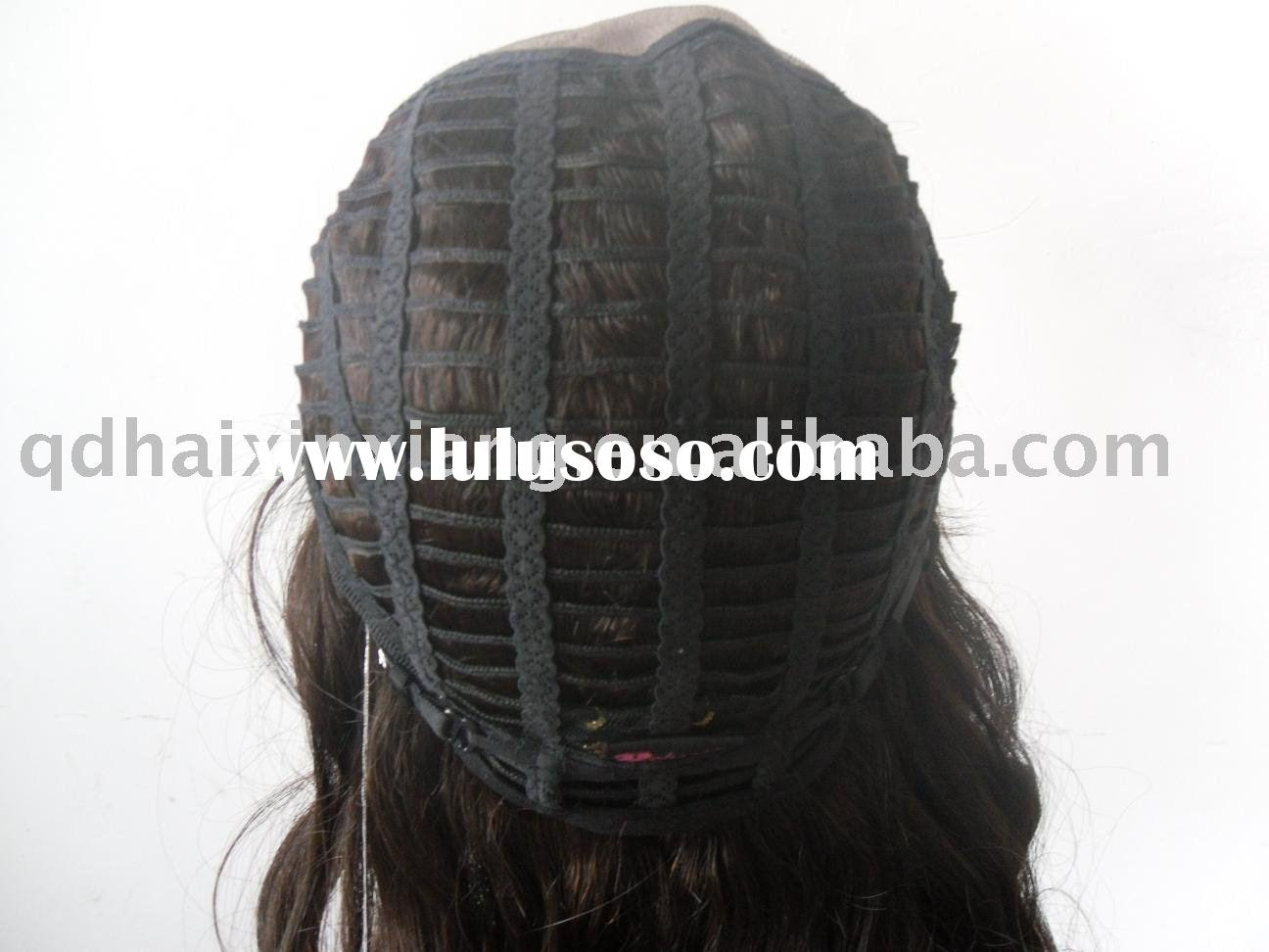 Cap black 22inch cheap glueless human hair lace front wigs