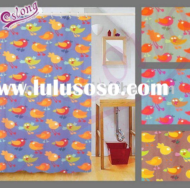 Chicken Printed Shower Curtain, Bathroom Product. 091004SC