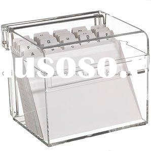Clear Acrylic Recipe Box