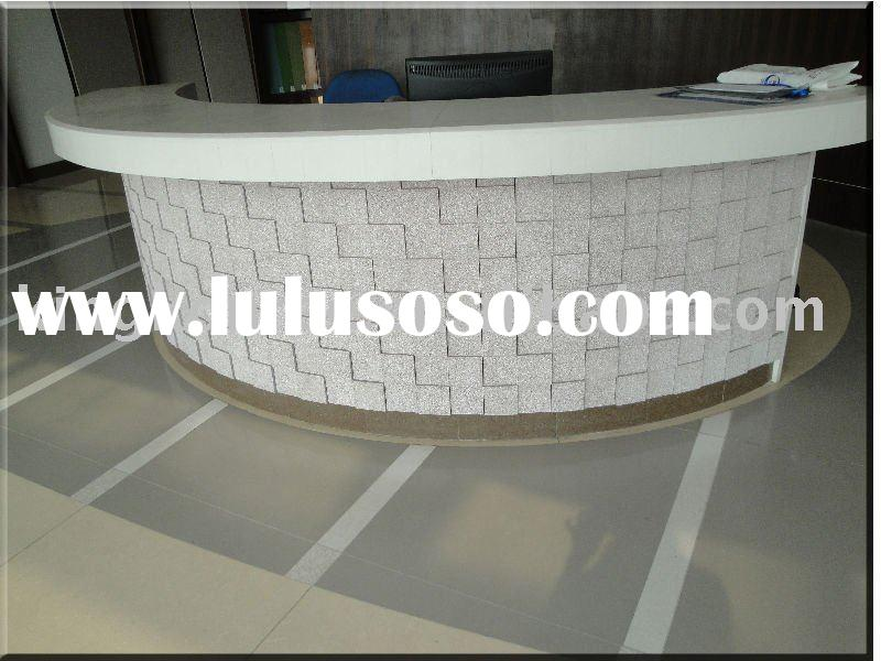 Corian acrylic solid surface reception countertop