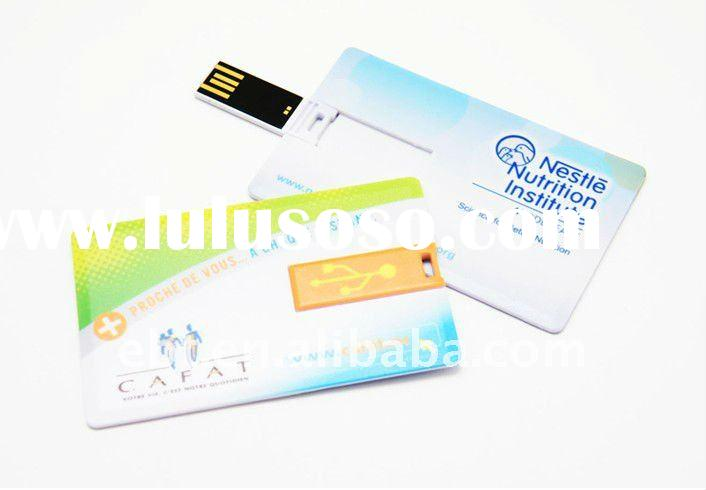 Credit card usb memory stick