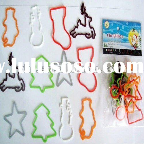 Custom design silicone Rubber bands &Holiday gift