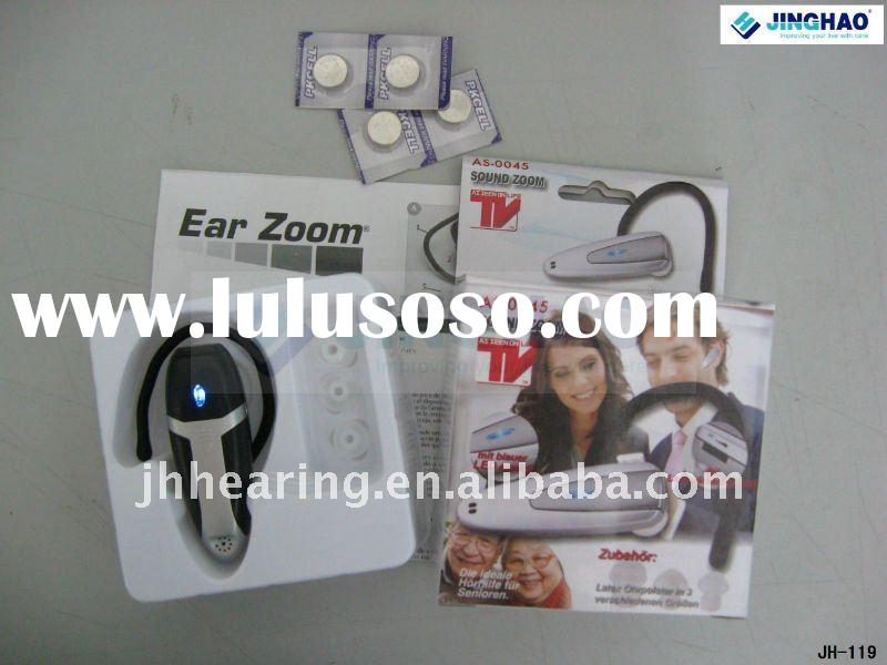 Ear zoom hearing amplifier with ce
