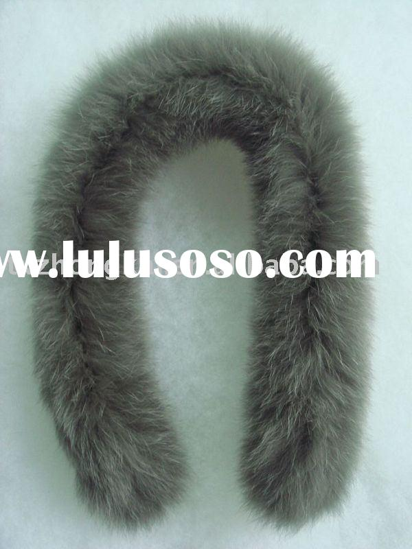 Elegant dyed fox fur trimming for hood