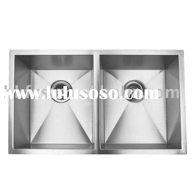 F3219D Handcrafted Double Bowl Kitchen Sink