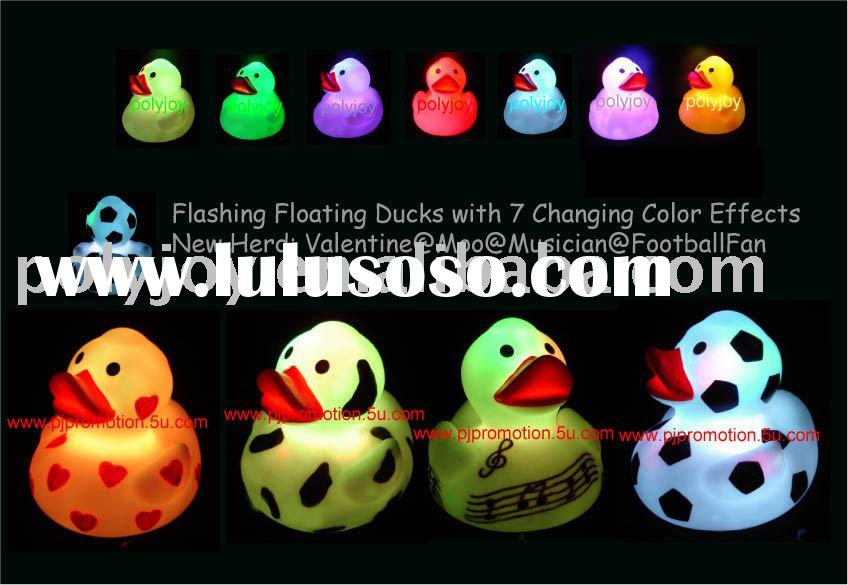 Floating duck/ Flashing duck / LED duck / Rubber duck/ toy Duck / LED duck / light up duck / floatin