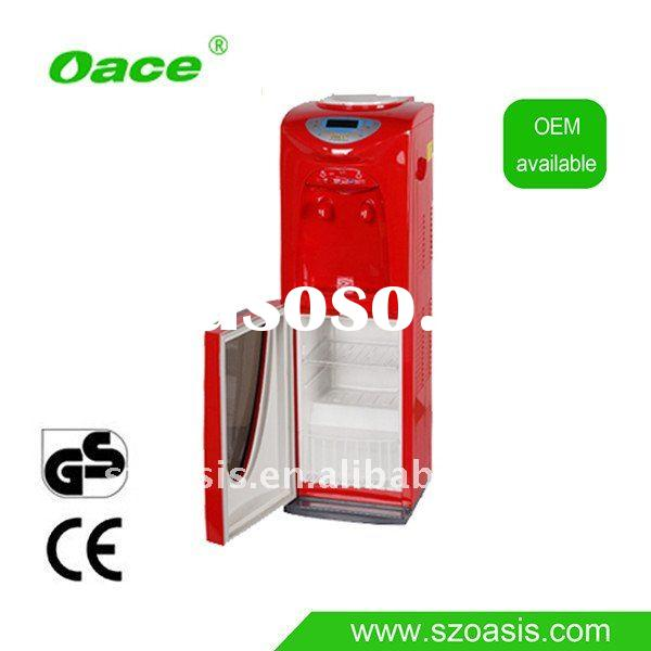 Floor Standing Glass Water Dispenser with ozone sterilizer cabinet
