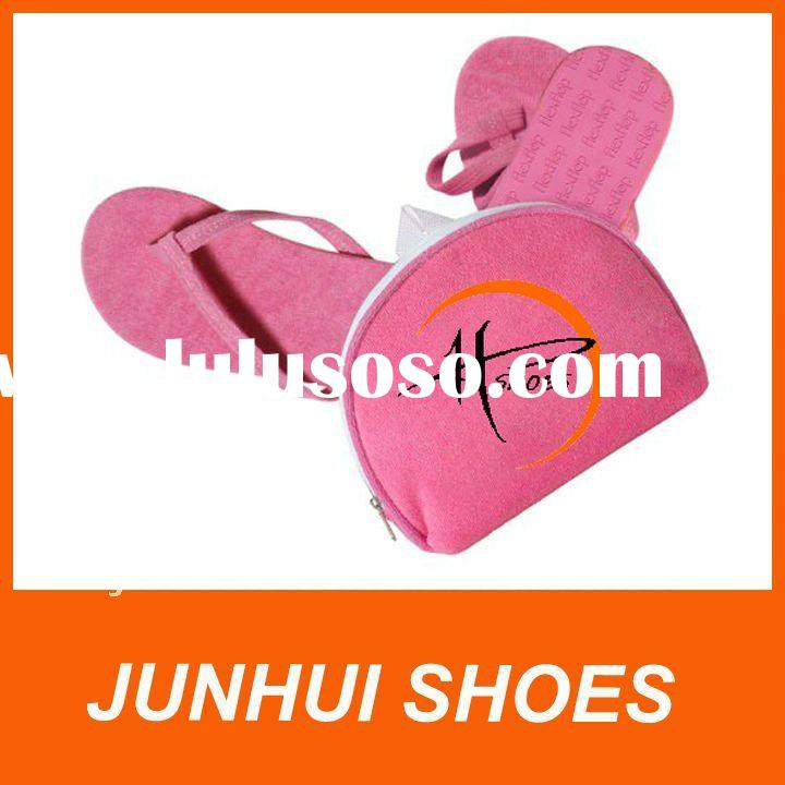 Foldable flip flop shoes-PINK