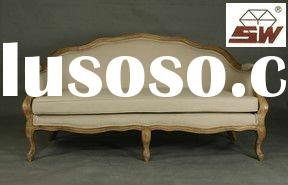French Furniture Love Seat Salon Sofa with Upholstery S023
