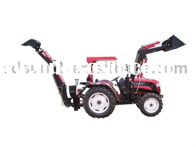 Tractor With Fel Garden Tractor 40hp 4x4 Dq404 With Front End Loader Slasher Mower Backhoe