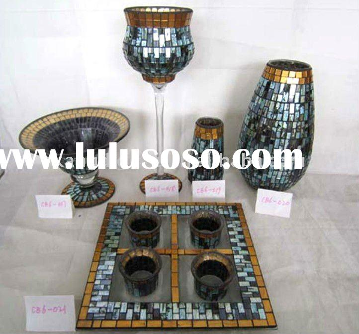 Glass Mosaic Candle Holder