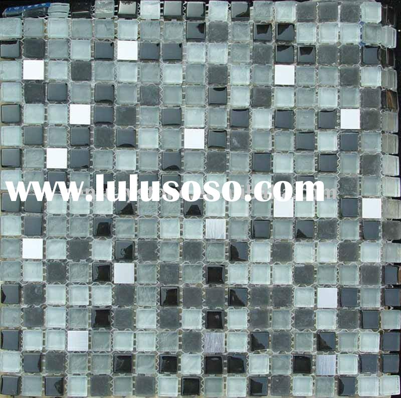 Glass mix stone mosaic kitchen tile backsplash