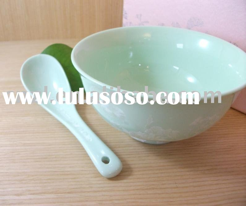 Green,Pure Porcelain Tableware WITH ice flower crystal glaze