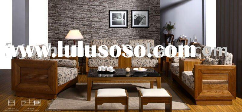 High Quality Solid Wood Frame Livingroom Sofa Set (JH-8202-1/2/3)