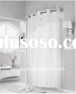 Hookless bathroom curtain