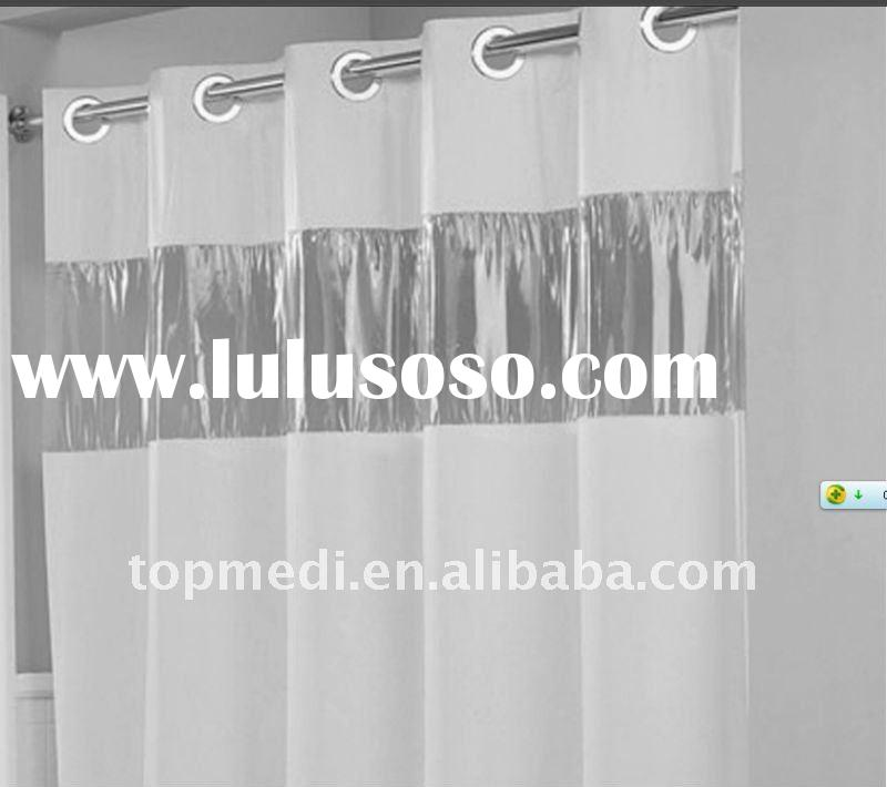 Hookless hospital curtain