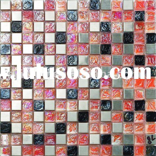 Kitchen Mosaic Backsplash Tile-20*20mm Mirror Glass Mosaic Blends GM04