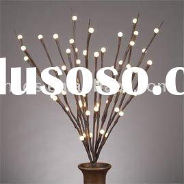 "LED Lighted Branches-20""brown branch/battery operated w Timer/60 warm white LED"