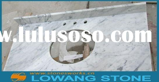 LW Carrara white marble countertop for bathroom and kitchen
