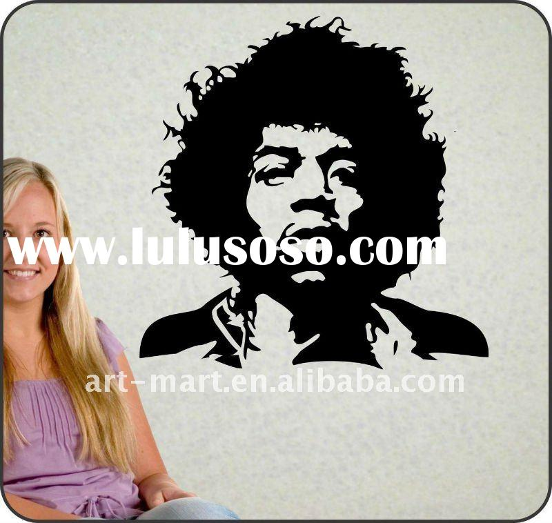 Large JIMI HENDRIX Removable Wall Decal Sticker