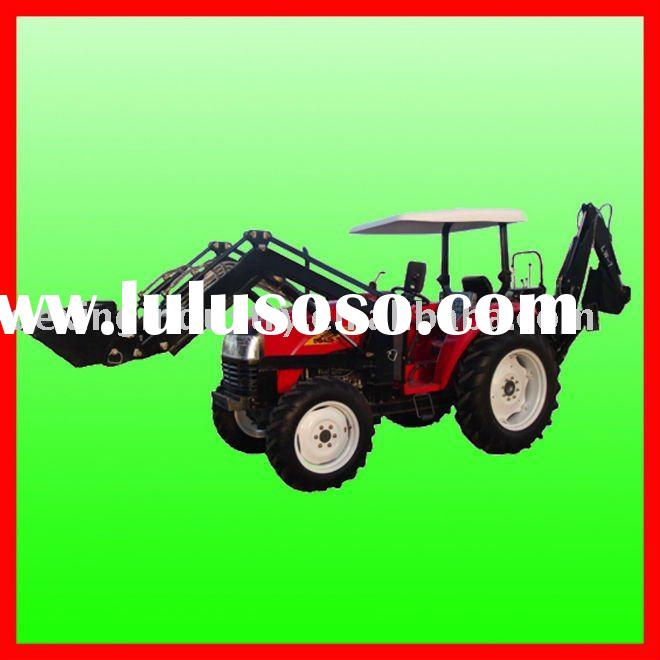 Low Price Professional Farm tractors with front end loader and backhoe