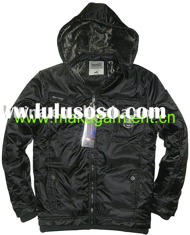 Man Black Casual Winter Jackets