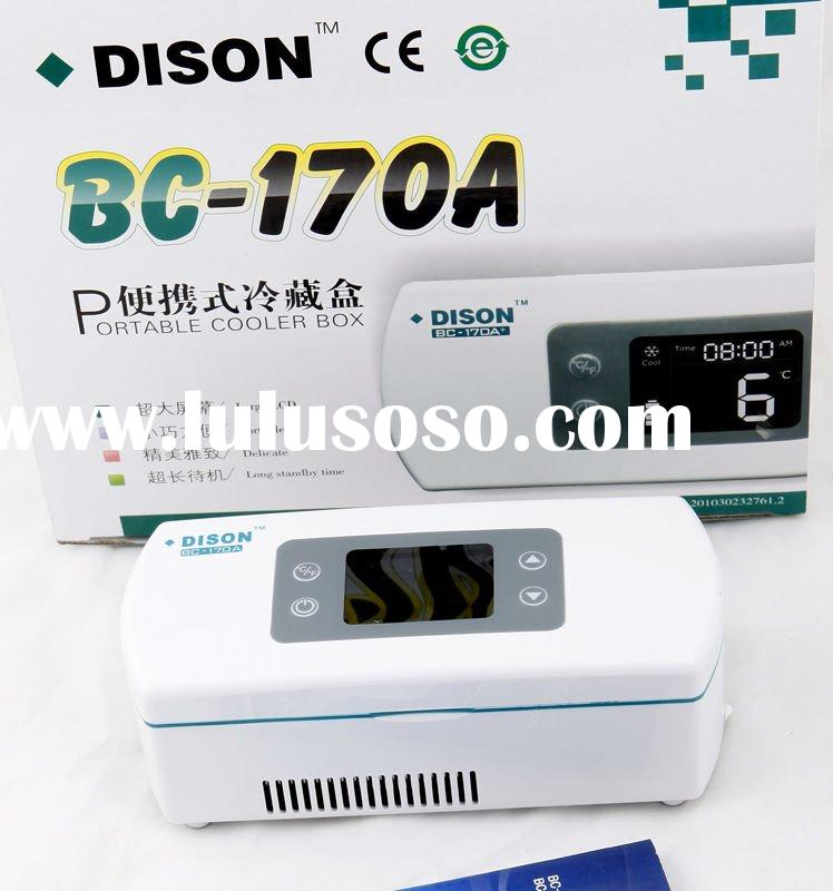 Medical Equipment (micro medical fridge for Novolin&humalog )AC/DC/Battery 3ways power ,2-8&