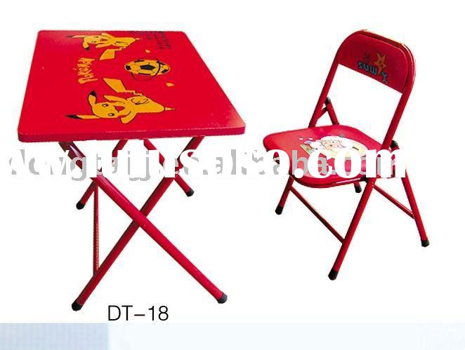 Metal Kids Fold Up Table and Chair Set DT-18 Red