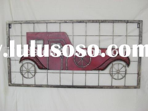 Metal car wall plaque.,Metal wall arts,Wrought iron wall sculpture,Iron wall plaques
