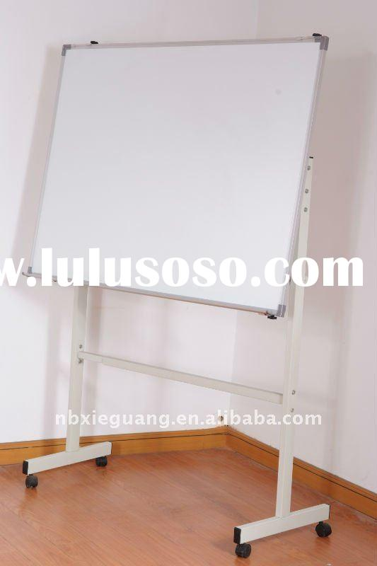 Mobile Magnetic Whiteboard Metal Flipchart Easel 120x90cm