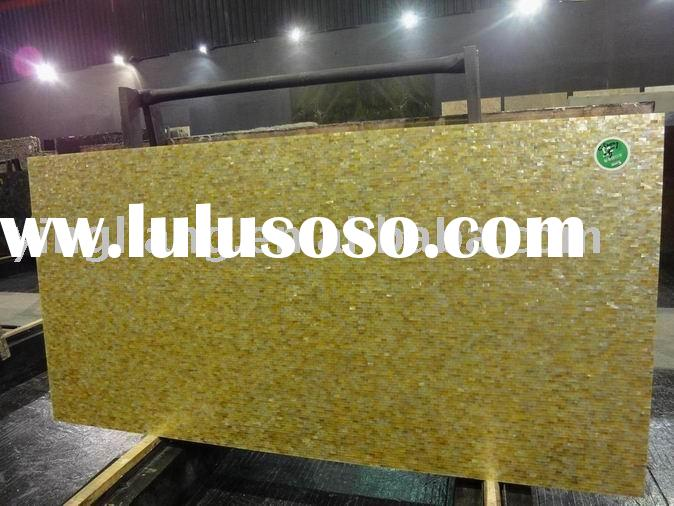 Mother of pearl beige marble slab