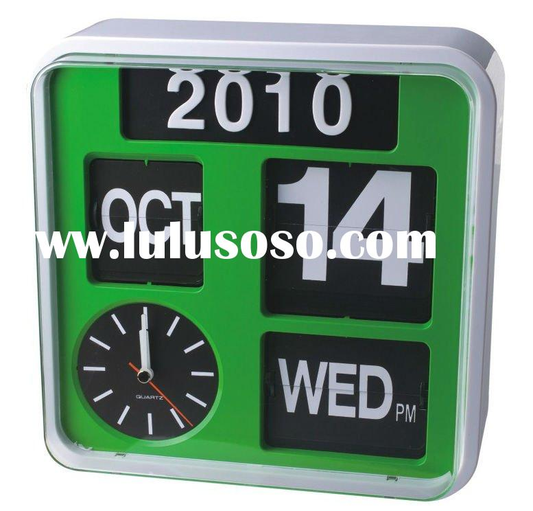 Multifunction Auto Large wall clock with am pm display